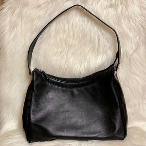 Gianni Bernini Black Leather Handbag